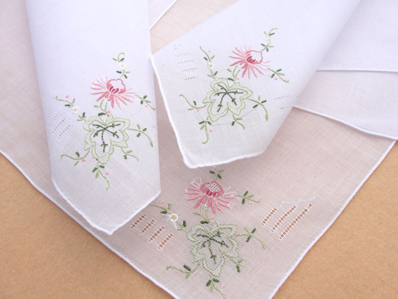 Beautiful handmade handkerchiefs