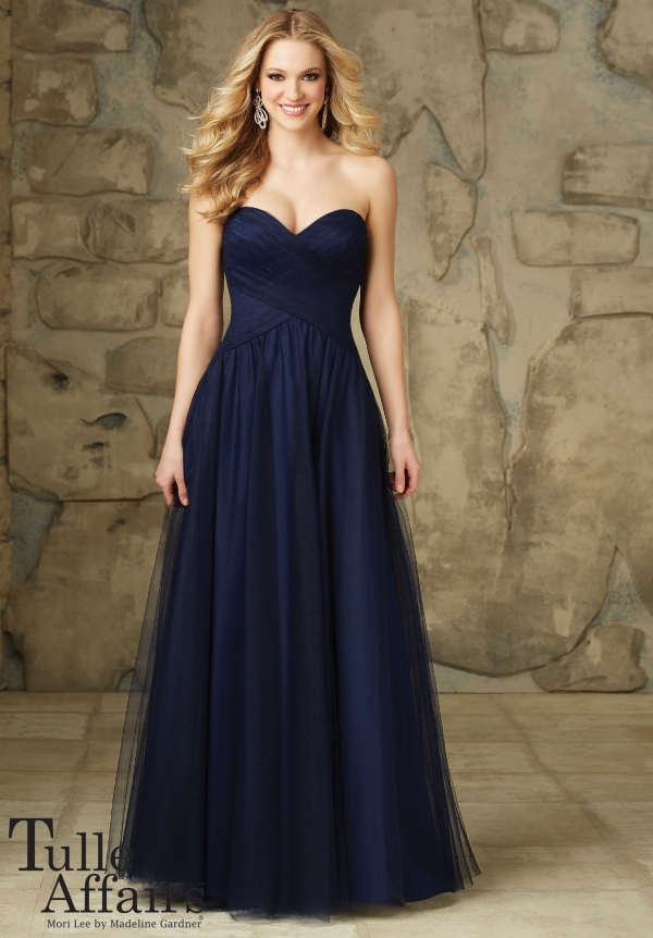 ml112 tulle navy long